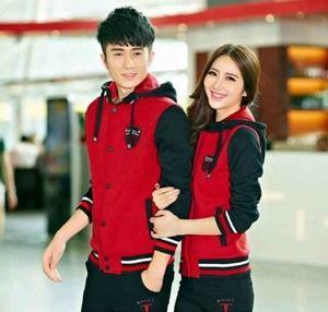 Jaket Couple Sport Merah Hitam, Keren Murah Dan Free Ongkir, Kode 434