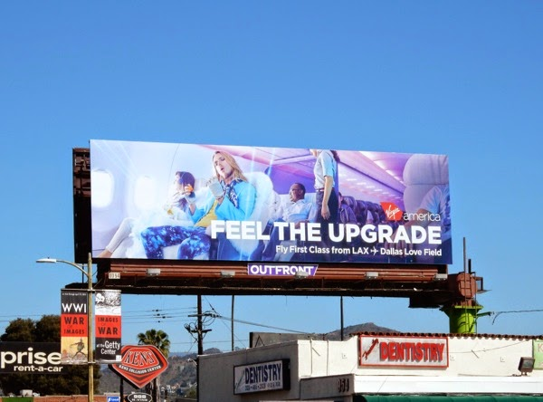 Feel the upgrade Virgin America billboard