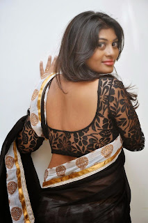 Actress Sowmya Latest Pictures in Saree at Rowdy Fellow Audio Launch 040