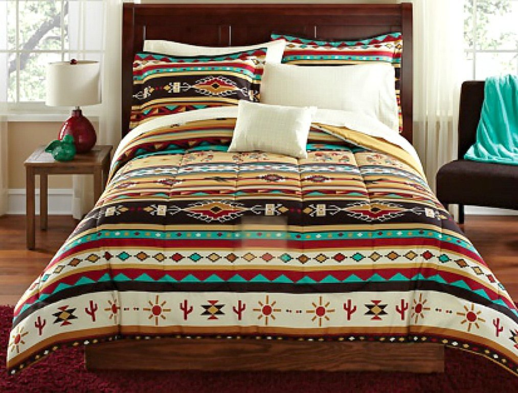 Southwest Style Comforters And Native American Indian Themed Bedding