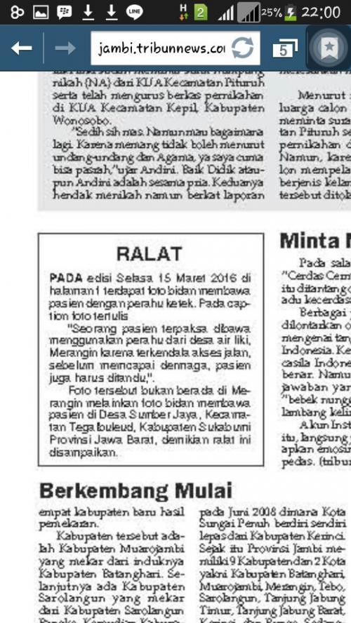 Ralat Tribunnews Jambi