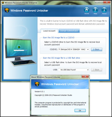 Windows Password Unlocker Enterprise 2012 6.0.1