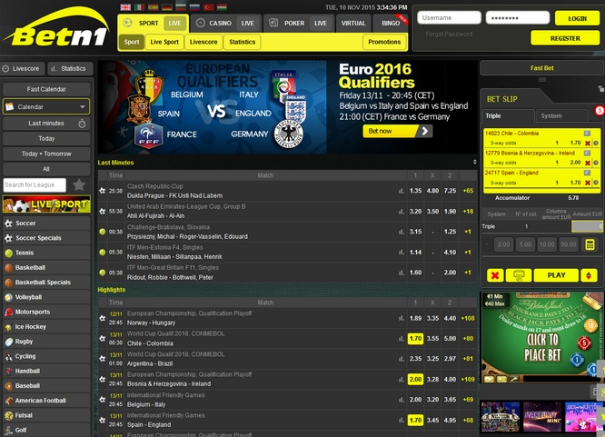 Betn1 Live Bets
