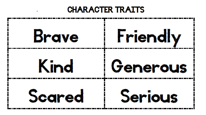 graphic regarding Character Traits Printable referred to as Jennifers Instruction Equipment: Looking at a People Properties and