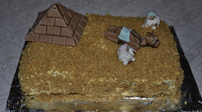 Tårta med Egyptentema