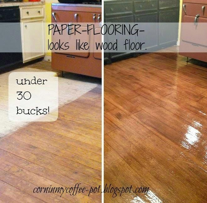Hardwood Paper Rolls ~ Corn in my coffee pot the new paper flooring pt diy
