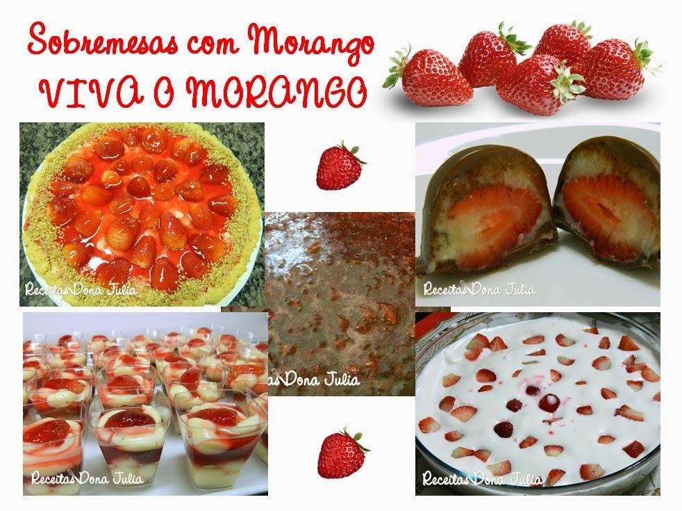 Sobremesas de Morango