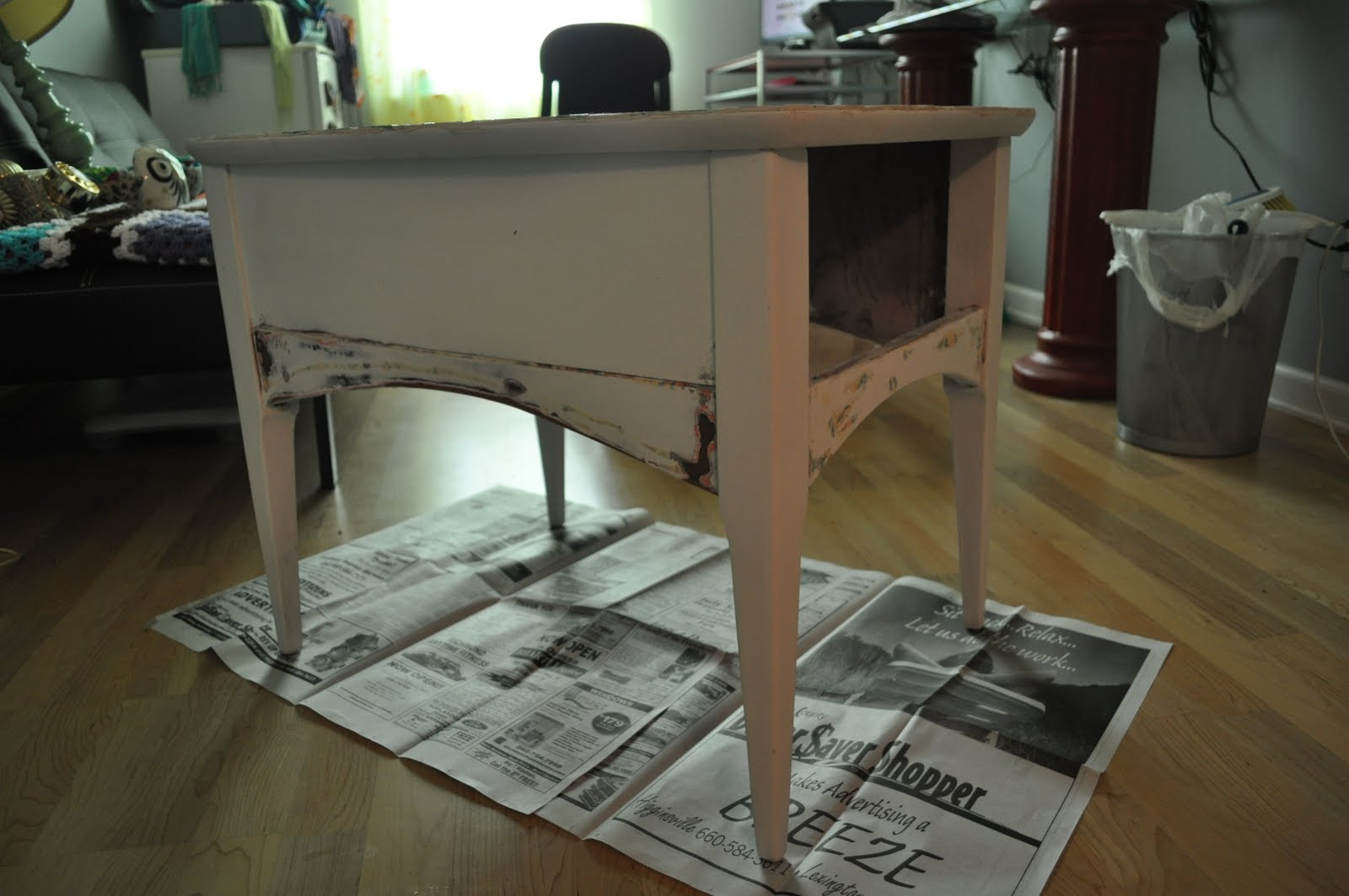 Kitty Litter Box Table DIY