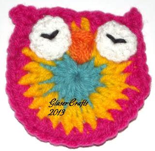corujinha em crochet- GlaserCrafts
