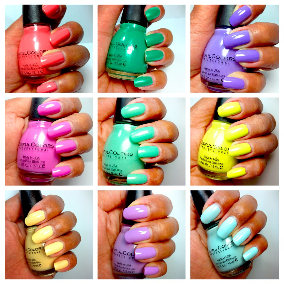 PinayBeautyCA: SinfulColors Summer Nail Polish Collection (Drugstore)