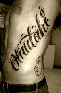 tattoo lettering, tattooing