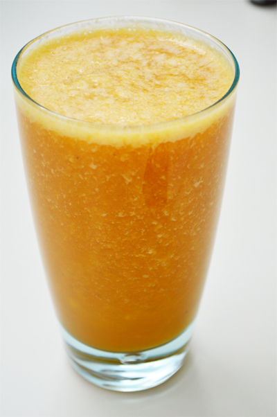 smoothie with seabuckthorn