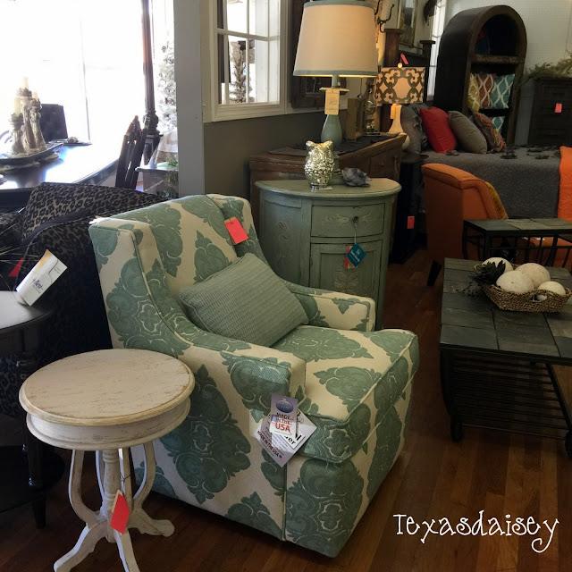 Look what I found at Gordon's Furniture!  Aqua Cottage Style furniture