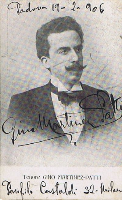 TENOR GINO MARTINEZ-PATTI (1866-1925) CD