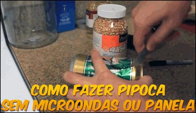 Como fazer pipoca sem microondas