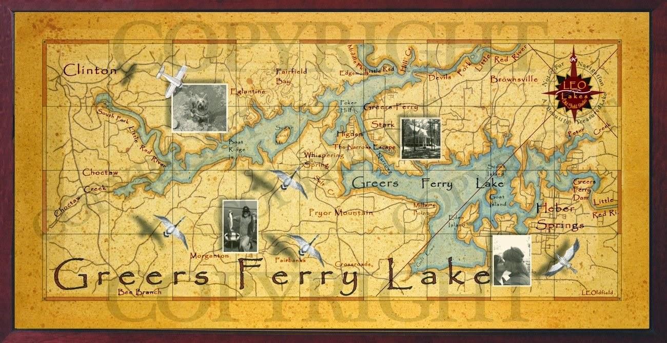 Old field studio for Lake chickamauga fishing map