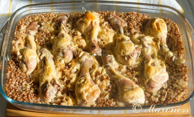 Гречка с курицей «Быстрый ужин»