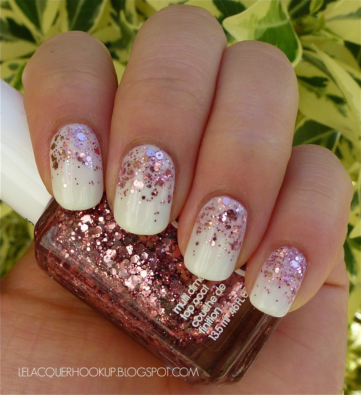 LE LACQUER HOOK UP: Essie Marshmallow + A Cut Above Essie A Cut Above Alone