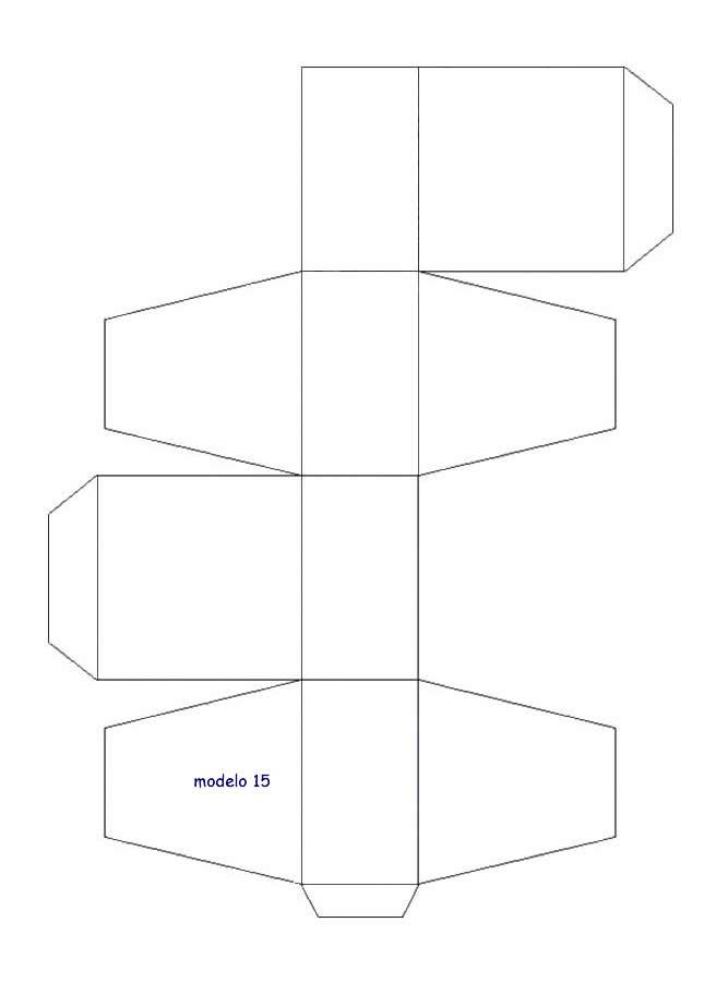 plantilla para hacer caja de cartón