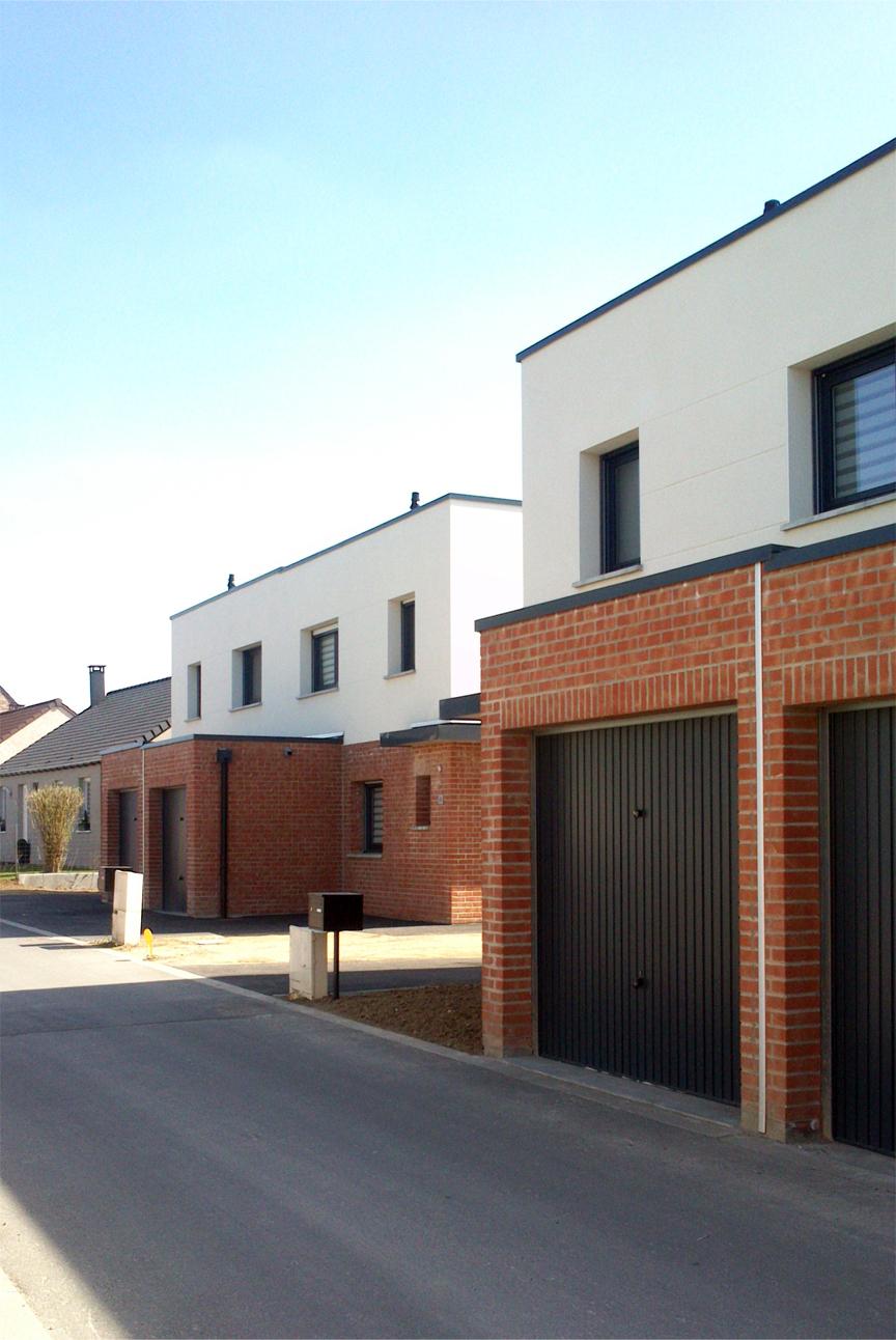 10 logements individuels courcelles les lens 62 for Delannoy architecte