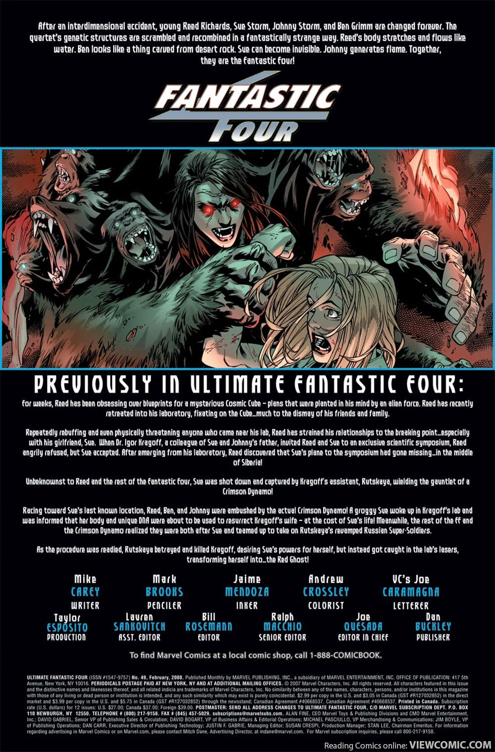 ultimate fantastic four #1 free to read