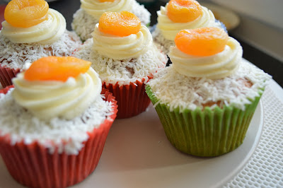 Orange Apricot Cupcakes