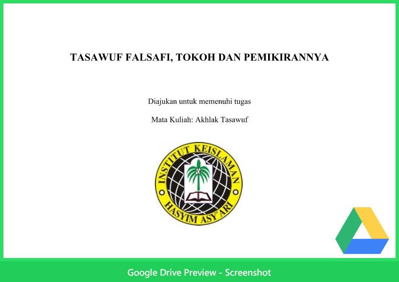 Contoh Makalah Agama Tentang Tasawuf Falsafi Tokoh Dan Pemikirannya Berkas Kurikulum 2013