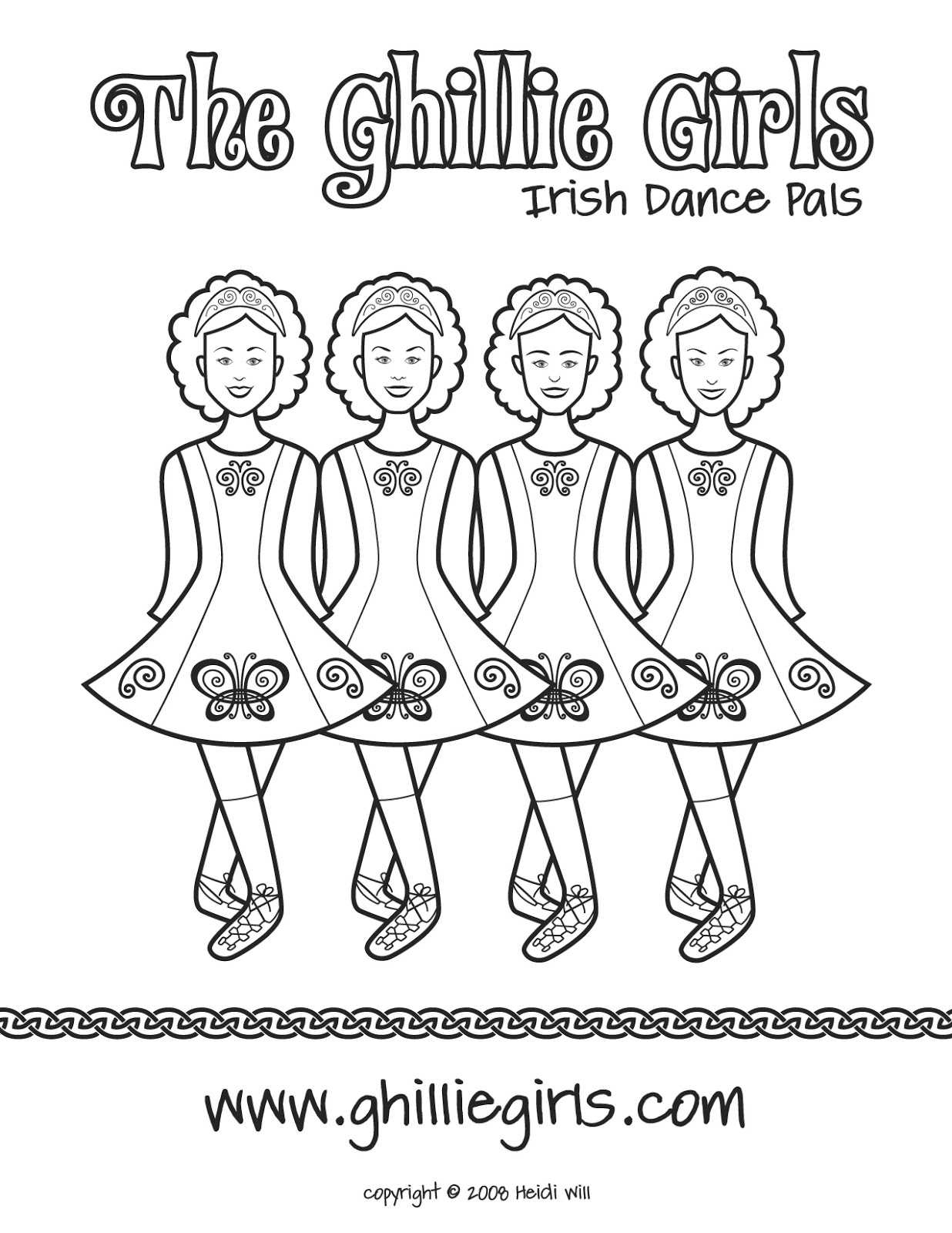 irish dance coloring pages free - photo#3