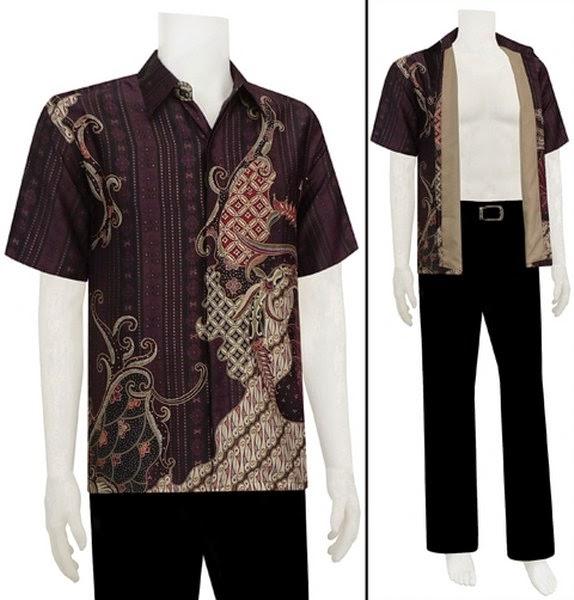 Model Baju Batik Terbaru Kerja Kombinasi Keluarga Muslim