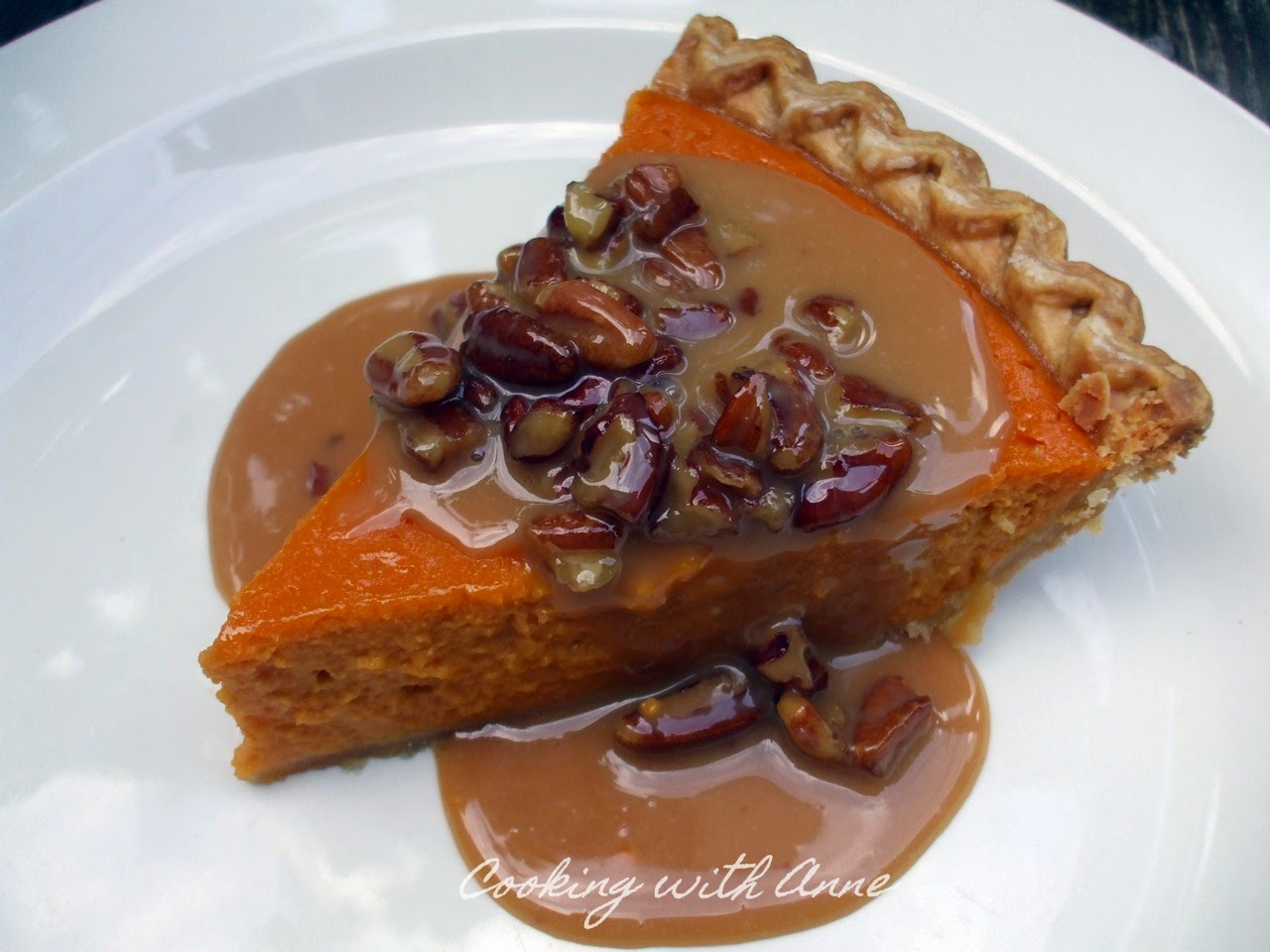 Sweet Potato Pie with Praline Sauce