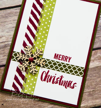 Make in a Moment - Washi Tape Christmas Card - Get the details here