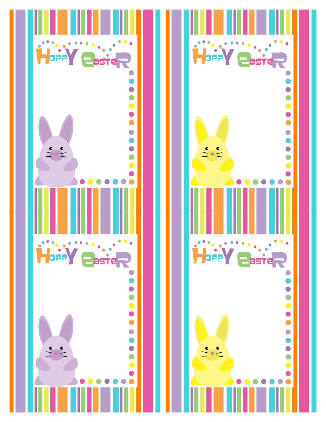 """... Stripe """"Hoppy Easter"""" Cards 