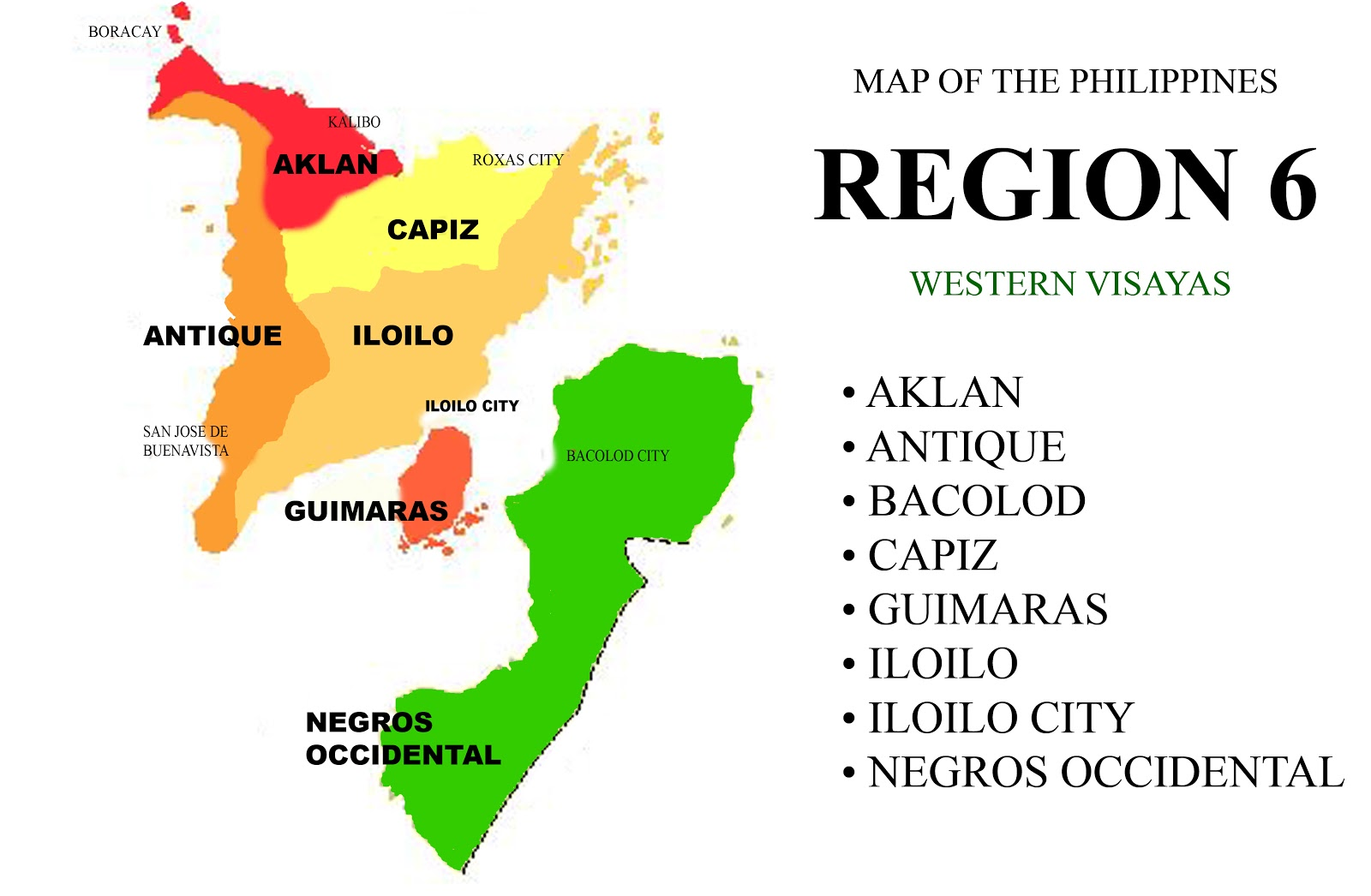 Map of the Philippines Region 6  chonzskypedia