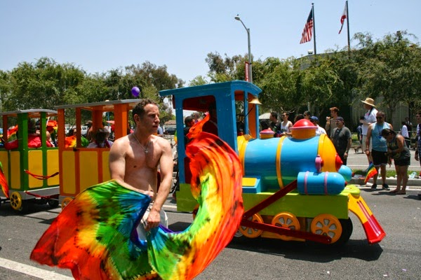 Flag dancer West Hollywood Pride Parade 2014