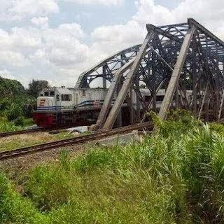 Rel Kereta Api di Bekasi