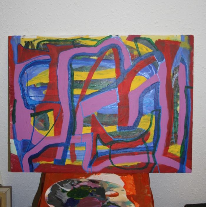 Work in Progress painting by Jon Pelletier