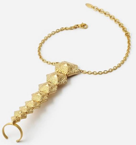 Isharya Croc Hand Bracelet
