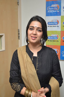 Actress Charmi Kaur Latest Pictures in Salwar Kameez at Radio City   (9)