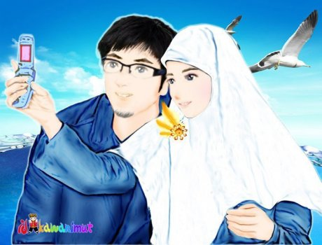 gambar couple islamic