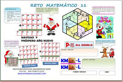 Reto Matemático, Problemas Matemáticos, Desafíos Matemáticos, Problemas de Ingenio Matemático, Criptoaritmética, Alfamética, Sudoku, Sudoku  3d, Jeroglíficos