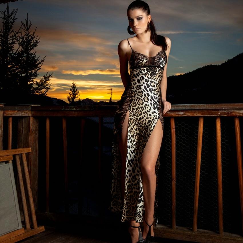 Seidennegligé Royale Leopard von Marjolaine