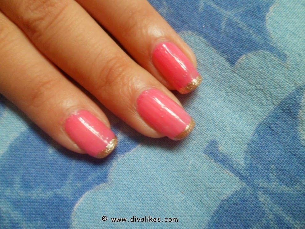 Glitter tips french manicure tutorial diva likes now a days many shades of glitter paints are available let your imaginations run wild and get yourself a french manicure with a twist solutioingenieria Images