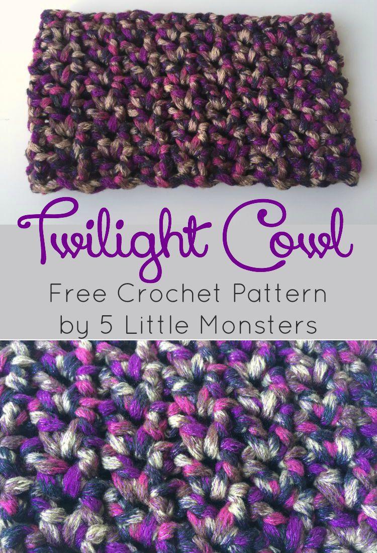 5 Little Monsters: Twilight Cowl Crochet Pattern
