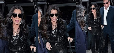 Cher on her way to 106.7 Lite FM