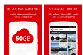 App Mega con 50 GB de almacenamiento Gratis [Android]