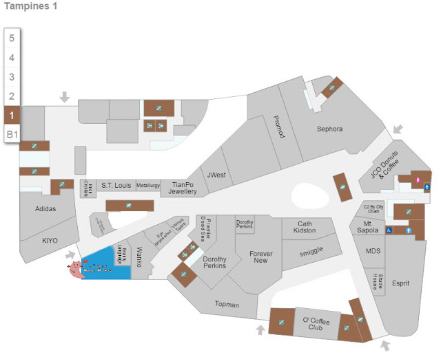 Tampines 1 - 4Fingers Store Location