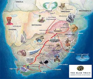 Comboio Azul - Luxo na Africa do Sul
