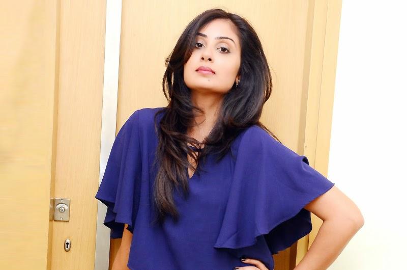 Bhanu Sri Mehra Latest Pics In Blue Dress