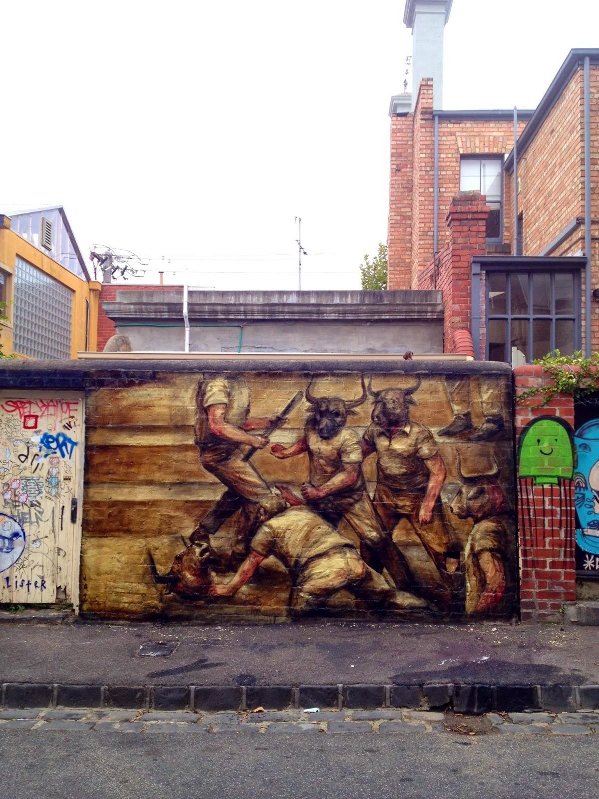 Jaz new murals melbourne australia streetartnews for Australian mural