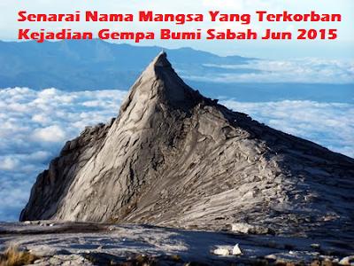 Gempa Bumi Sabah Jun 2015